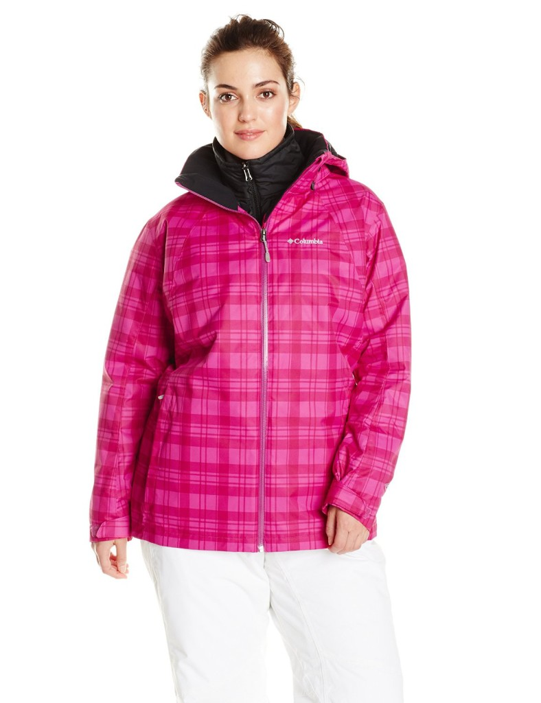 plaid pink Columbia Whirlibird Interchange Jacket