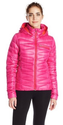 cute hot pink winter jacket for women