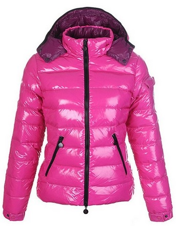 Shiny Hot Pink Puffy Winter Jacket