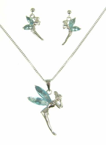 Cute Fairies Pendant and Earrings Set