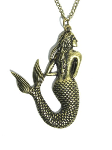 Vintage Style Mermaid Siren Necklace