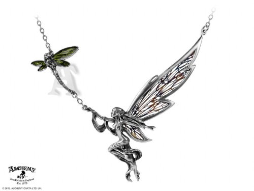 Unique Fairy and Dragonfly Necklace