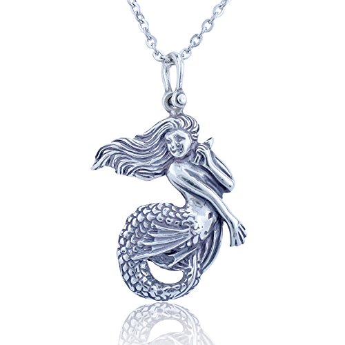 Very Cute Sterling Silver Mermaid Necklace for Women
