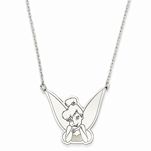 Cute Tinker Bell Silver Necklace