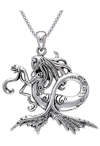 Cool Sterling Silver Sea Mermaid Pendant Necklace
