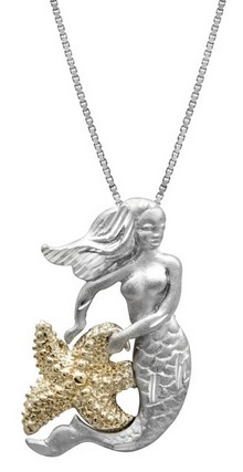 beautiful mermaid necklace for sale