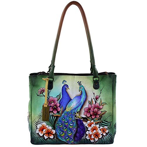 Beautiful Peacock Leather Tote Bag for Women