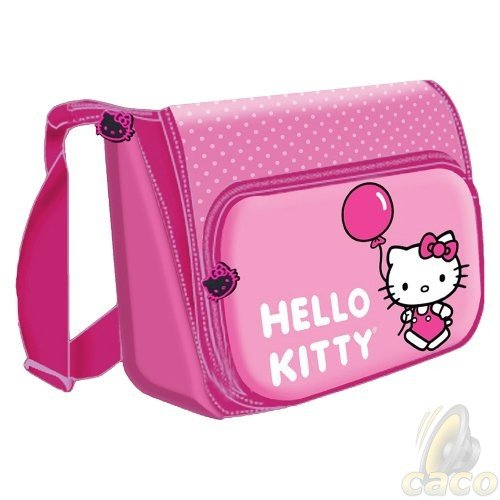 PINK Hello Kitty Horizontal Messenger Style Laptop Bag