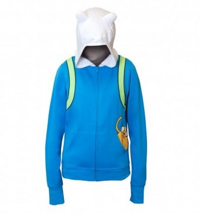 Adventure Time Finn Jake In Pocket Juniors Blue Hoodie