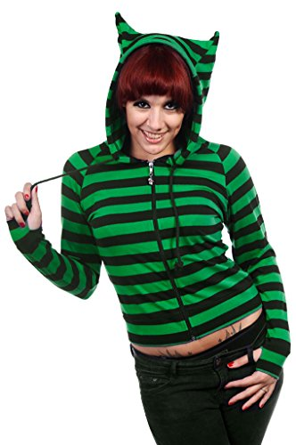 Fun Cat Ears Striped Hoodies for Teens