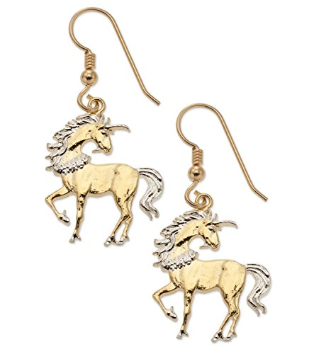 Unicorn Coin Earrings