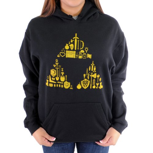 Zelda Triforce Items Women's Hoodie