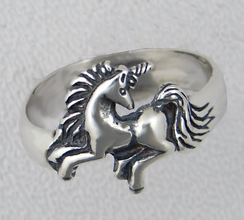 Fun Sterling Silver Unicorn Ring