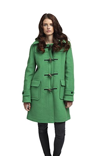 Stylish Women's London Green Duffle Coat