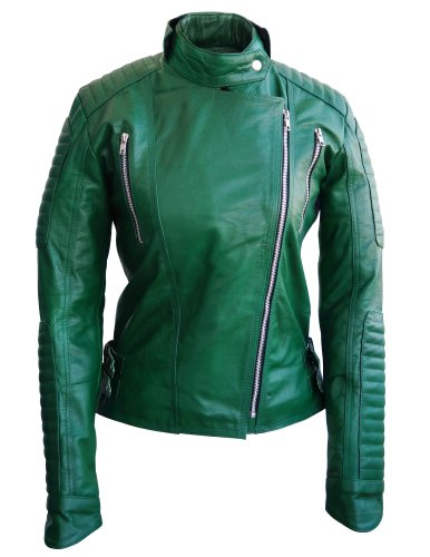 Beautiful GREEN Color Genuine Leather Jacket