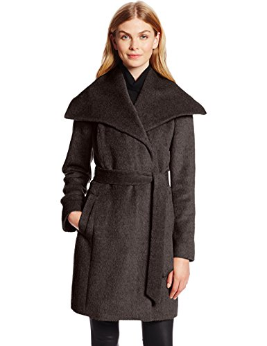 Women's Wool Coat with Fold Collar