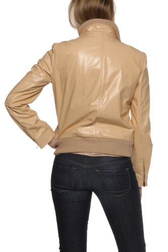 Versace PEACH Color Leather Jacket for Women
