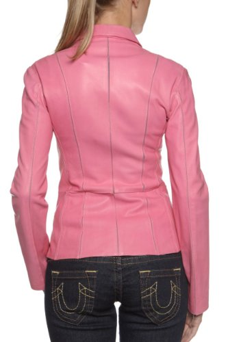 Fashion Pink Leather Jacket