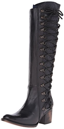 Stylish One of a Kind Black Leather Boots for Women