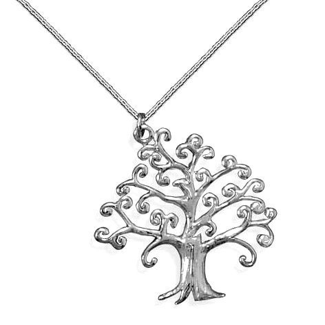 Cute Family Tree of Life Sterling Silver Pendant Necklace with Chain