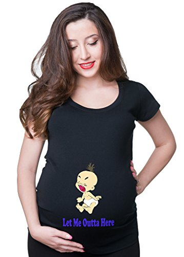 Let me outta here Fun Maternity Pregnancy t-shirt