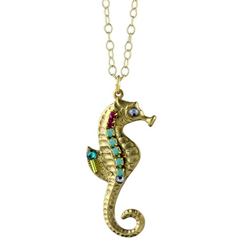 Colorful Crystal Seahorse Necklace
