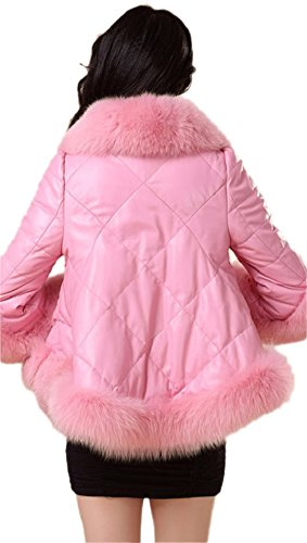 Girly Pink Fur Coat for Women