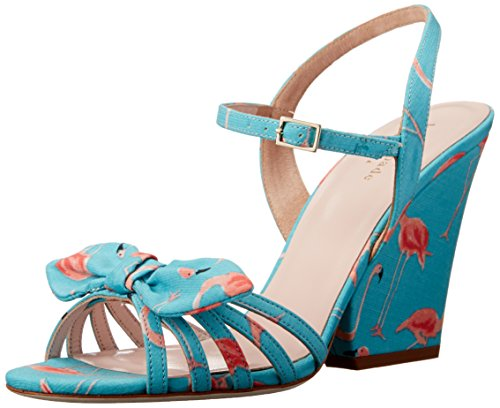 Cute and Girly Kate Spade New York Turquoise Wedge Sandals