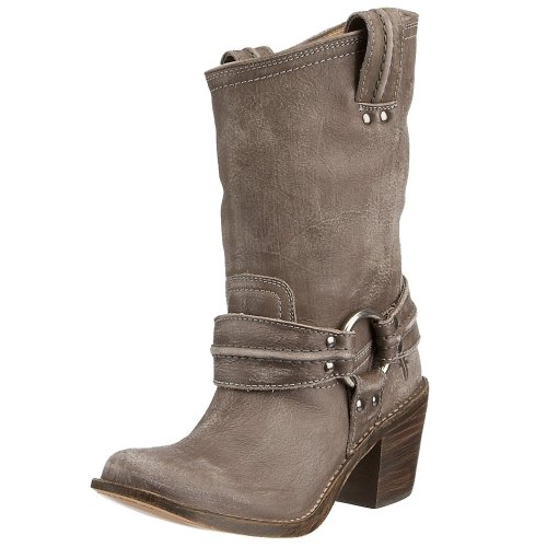 FRYE Women's Grey Leather Ankle Boots