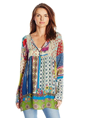 Gorgeous Loose Fitting Floral and Colorful Tunic