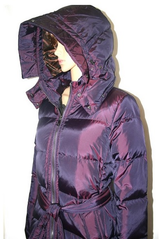 Women's Center Zip Hooded AUTHENTIC Puffer Parka Coat