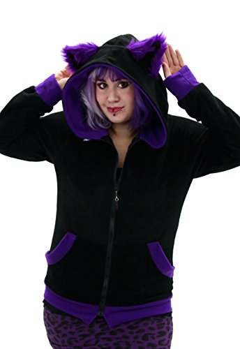 Cute Kitty Cat Eared Hoodie for Teens