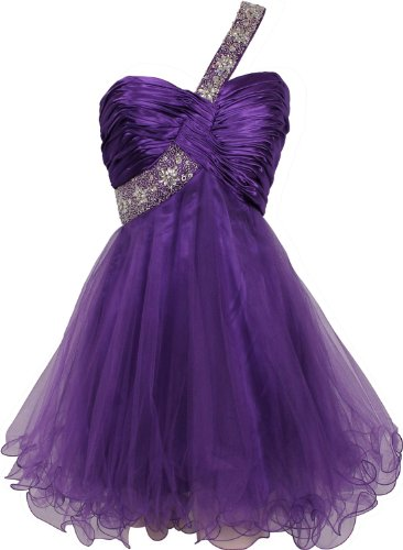 Cute Short Purple Dress for Teenage Girls