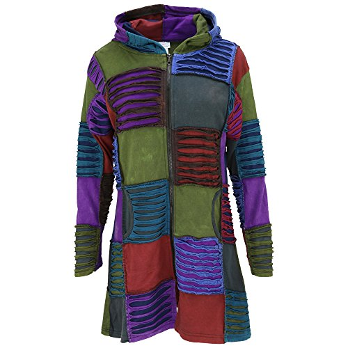 Patchwork Squares Long Bohemian Jacket