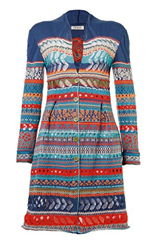 BoHo Chic Floral Pattern Long Jacket for Women