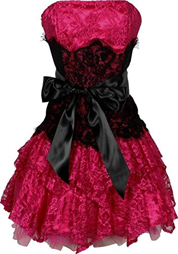 Cutest Strapless Ruffle Teen Prom Dress