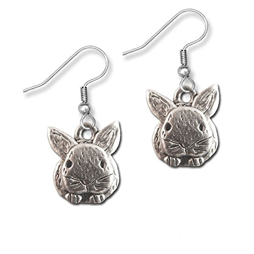 Unique Pewter Rabbit Earrings