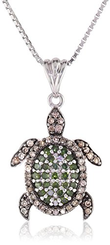 Cute and Sparkly Turtle Pendant Necklace