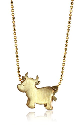 Yellow Gold Ox Pendant Necklace