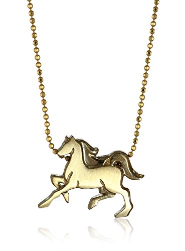 Yellow Gold Horse Pendant Necklace