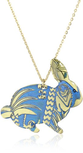 Cute Hand Made Blue Bunny Necklace