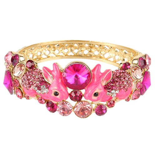 Adorable Pink Rabbits Bracelet