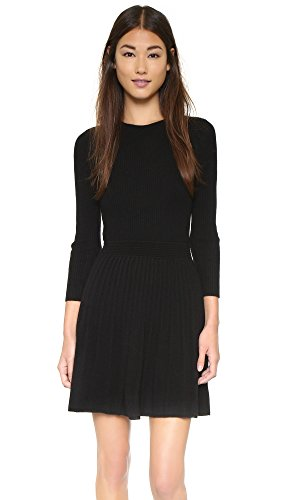 Cute and Girly Black Wool Dress for Women