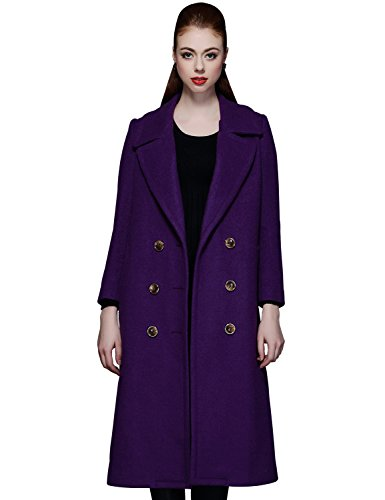 PURPLE Wool Long Coat