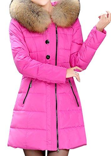 Bubblegum Pink Coat with Fur Trim