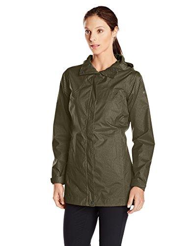 Dark Moss Green Waterproof Rain Jacket for Women