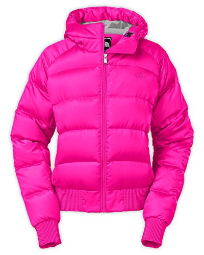 Bomber Style Pink Winter Jacket for Women