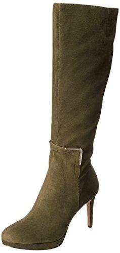 Cute Dark Green Tall Suede Boots