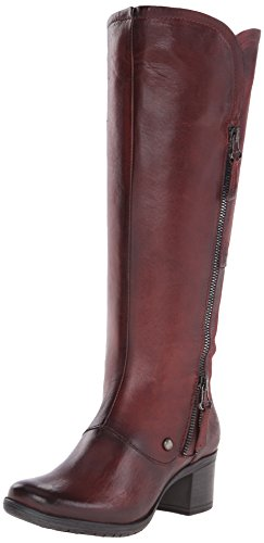 Beautiful Burnished Leather Wine Color Women's Boots