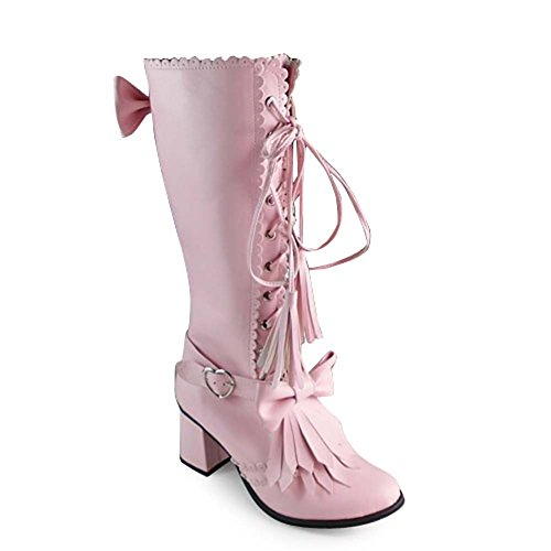 Cute Baby Pink Boots for Women